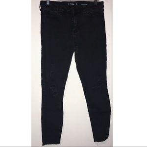 Black Distressed Hollister Jeans